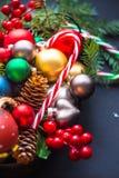 De kaart van de Kerstmisvakantie Stock Afbeelding