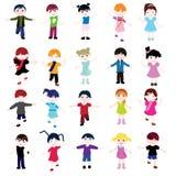 De kaart van kinderen Stock Foto