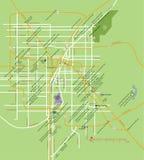 De kaart van Las Vegas Stock Afbeeldingen