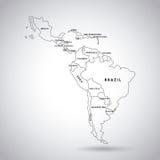 De Kaart van Latijns Amerika vector illustratie
