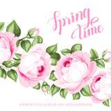De Kaart van de de lentetijd royalty-vrije illustratie