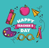 De kaart van de lerarendag royalty-vrije illustratie