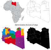 De kaart van Libië Royalty-vrije Stock Foto's