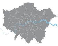 De kaart van Londen Stock Foto