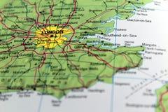 De Kaart van Londen Royalty-vrije Stock Foto's