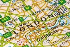 De Kaart van Londen Stock Fotografie