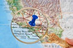 De kaart van Los Angeles Stock Afbeeldingen