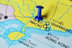 De kaart van Macao stock afbeelding