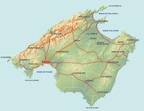 De Kaart van Majorca royalty-vrije illustratie