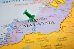 De kaart van Maleisië Stock Foto