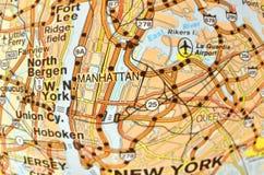 De kaart van Manhattan Royalty-vrije Stock Fotografie