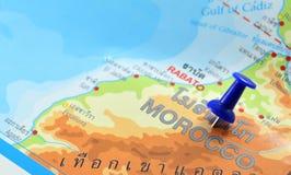 De kaart van Marokko Stock Afbeeldingen
