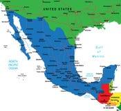 De kaart van Mexico Royalty-vrije Stock Afbeeldingen