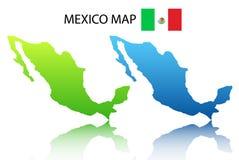 De kaart van Mexico Stock Afbeeldingen