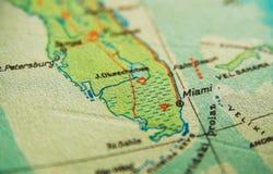 De kaart van Miami Florida stock foto