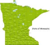 De kaart van Minnesota Royalty-vrije Stock Foto's