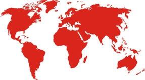 De kaart van Mundi Stock Afbeelding
