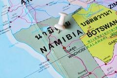 De kaart van Namibië Royalty-vrije Stock Afbeelding