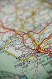 De Kaart van Napoliitalië stock foto's