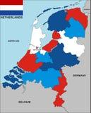 De kaart van Nederland Stock Afbeeldingen