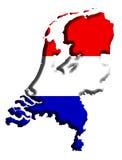 De Kaart van Nederland Royalty-vrije Stock Fotografie