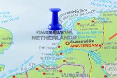 De kaart van Nederland Royalty-vrije Stock Foto's