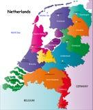 De kaart van Nederland Royalty-vrije Stock Afbeeldingen