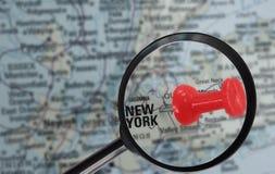 De kaart van New York Stock Foto