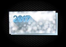 De kaart van nieuwjaargroeten Stock Afbeeldingen