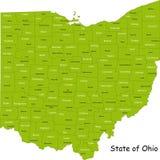 De kaart van Ohio Royalty-vrije Stock Foto's