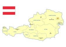 De kaart van Oostenrijk royalty-vrije illustratie
