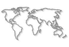 De kaart van de overzichtenwereld Royalty-vrije Stock Afbeelding