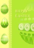 De kaart van Pasen met eieren Stock Foto's