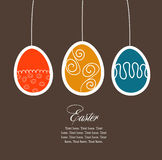 De kaart van Pasen met eieren Royalty-vrije Stock Afbeelding
