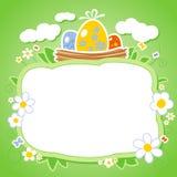 De kaart van Pasen met frame voor foto. Royalty-vrije Stock Afbeeldingen