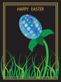 De kaart van Pasen met het beeld van de eibloem Stock Fotografie