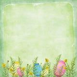De kaart van Pasen voor de vakantie met ei Royalty-vrije Stock Foto's