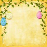 De kaart van Pasen voor de vakantie met ei Stock Foto