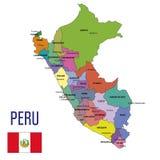 De kaart van Peru vector illustratie