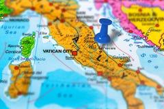 De kaart van Pescaraitalië stock foto