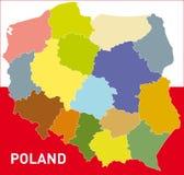 De Kaart van Polen Stock Fotografie