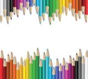 De kaart van potloden Stock Afbeelding