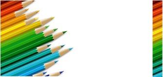 De kaart van potloden Stock Foto