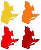 De kaart van Quebec - de grootste provincie en het grondgebied van Canada royalty-vrije illustratie