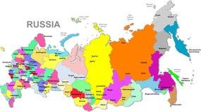 De kaart van Rusland Stock Afbeeldingen