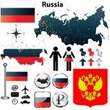 De kaart van Rusland Stock Fotografie