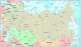 De kaart van Rusland Stock Foto