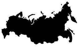 De kaart van Rusland Stock Afbeelding