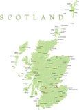 De kaart van Schotland. Royalty-vrije Stock Afbeeldingen