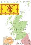 De kaart van Schotland. Royalty-vrije Stock Afbeelding